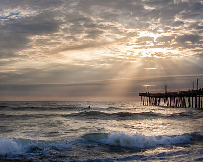 Art Print featuring the photograph Dawns Ocean Rays by Dawn Romine