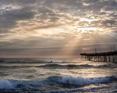 Dawns Ocean Rays Art Print