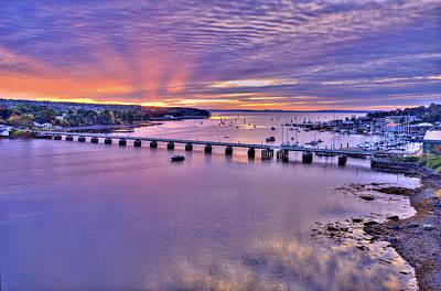 Penobscot Bay Digital Art - Dawns Ray Over Belfast Maine by Gregory W Leary