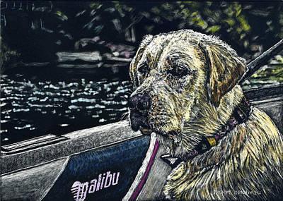 Dawson At The Lake Art Print by Robert Goudreau