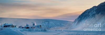 Dawson City Ice Bridge Print by Priska Wettstein