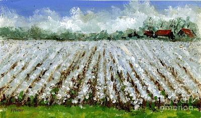 Painting - Delta Cotton Field by Virginia Potter