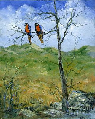 Painting - Macaws In A Landscape by Virginia Potter
