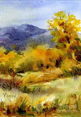 Painting - Golden Trees by Virginia Potter