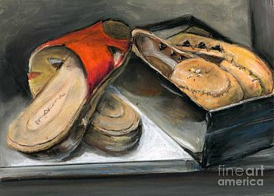 Painting - Shoes With Outouts by Virginia Potter