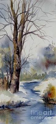 Painting - Misty Winter Wood by Virginia Potter