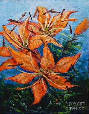 Painting - Day 21 Tiger Lily by Virginia Potter