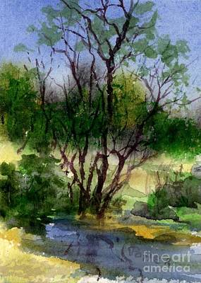 Painting - Day 24 Creek Side Aceo by Virginia Potter