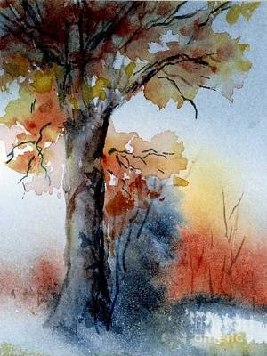Painting - End Of Autumn by Virginia Potter