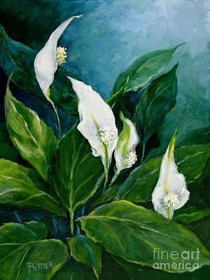 Painting - Peace Lily by Virginia Potter