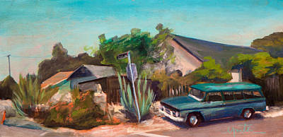 Streetscape Painting - Day And Burker by Athena  Mantle