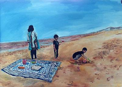 Painting - Day At The Beach by Aditi Bhatt