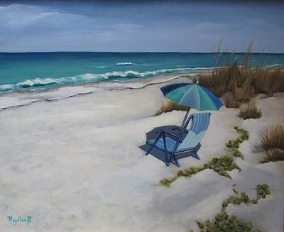 Painting - Day At The Beach by Pat Heydlauff