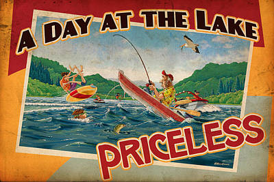 Day At The Lake Art Print