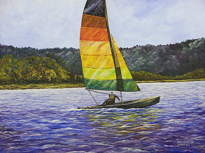 Painting - Day At The Lake by Mary Ann King