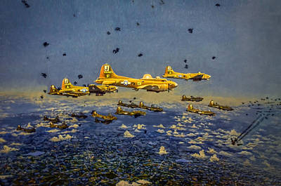 Photograph - Day Bomb Run Over Schweinfurt by Ken Smith