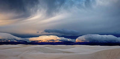 White Sands Wall Art - Photograph - Day Break At White Sand by John Fan