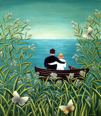 Couple Painting - Day Dream by Jerzy Marek