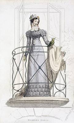 Lace Drawing - Day Dress, Fashion Plate by English School