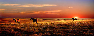 Prairie Sunset Wall Art - Photograph - Day Is Done by Rod Seel