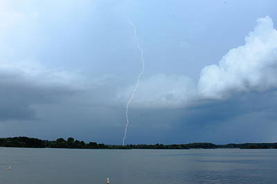 Photograph - Day Lightning by Reid Callaway
