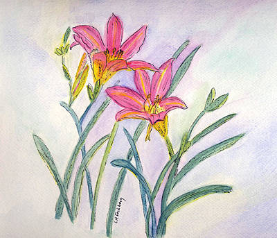 Painting - Day Lilies by Linda Feinberg