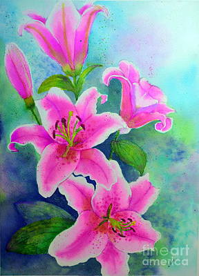 Painting - Day Lily Delight by Dion Dior