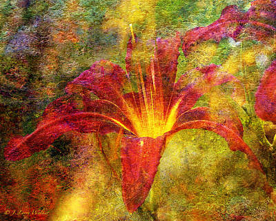 Digital Art - Day Lily Explosion by J Larry Walker
