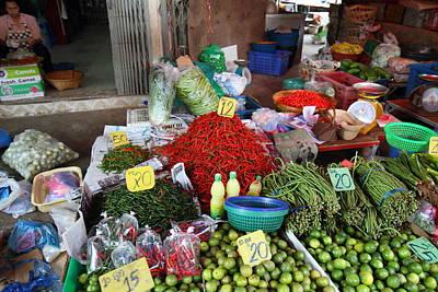 Merchants Photograph - Day Market - Pak Chong Thailand - 011313 by DC Photographer