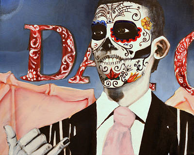 Barack Obama Oil Painting - Day O by Carlo Martinez