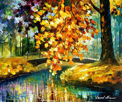 Day Of Feelings - Palette Knife Oil Painting On Canvas By Leonid Afremov Original by Leonid Afremov