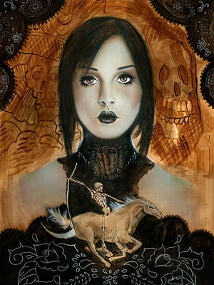 Mexican Horse Painting - Day Of The Dead 2 by Luis  Navarro