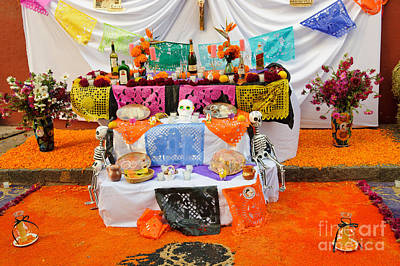 Day Of The Dead Altar, Mexico Art Print by John Shaw