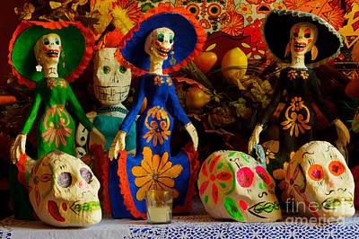 Photograph - Day Of The Dead Decorations by John Shaw