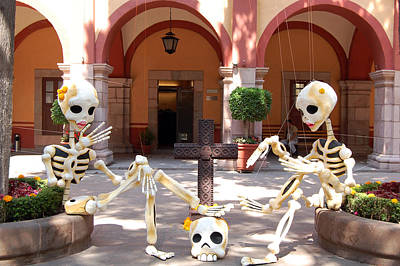 Photograph - Day Of The Dead Halloween Mexico by George Olney