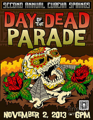 Digital Art - Day of the Dead Parade 2013 by Jeff Danos and Kiko Garcia
