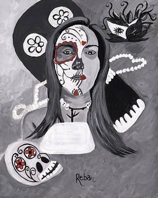 Day Of The Dead Art Print by Reba Baptist