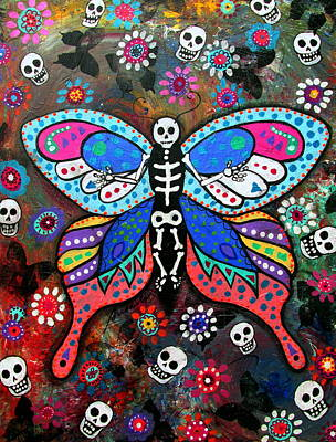 Painting - Day Of The Dead Skellyfly IIi by Pristine Cartera Turkus