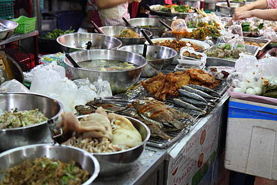 Daytime Photograph - Day Street Market - Chiang Mai Thailand - 011312 by DC Photographer