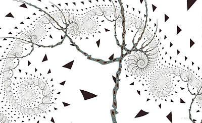 Digital Art - Day Tree by Fran Riley