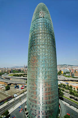 Barcelona Photograph - Day View Of Phallic-shaped Torre Agbar by Panoramic Images