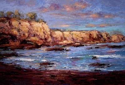 Daybreak At Montana De Oro Beach Art Print by R W Goetting