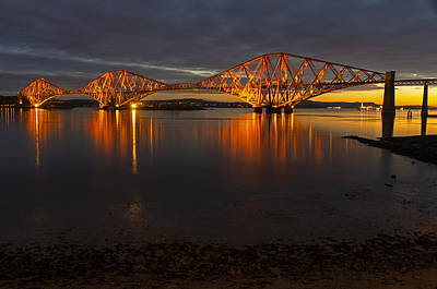 Photograph - Daybreak At The Forth Bridge by Ross G Strachan