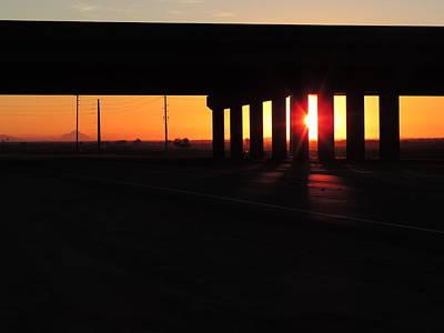 Daybreak Bridge Art Print