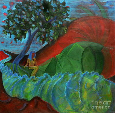 Art Print featuring the painting Uncertain Journey by Elizabeth Fontaine-Barr