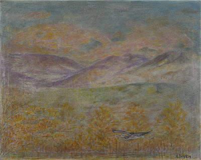 Wildlife Painting - Daybreak by Hannah Boynton