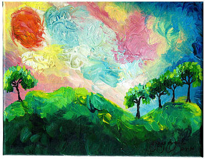 Oshun Wall Art - Painting - Daybreak In Paradise by Ifeanyi C Oshun