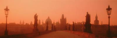 Praha Photograph - Daybreak Karluvmost Praha Czech Republic by Panoramic Images