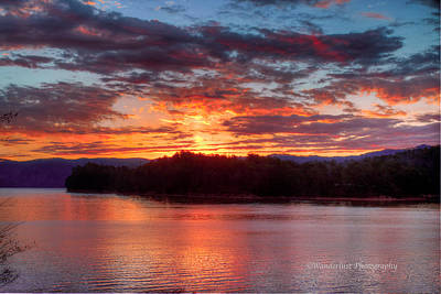 Daybreak Lake Ocoee Art Print by Paul Herrmann