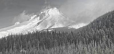 Photograph - Daybreak On Mt. Hood by Don Schwartz